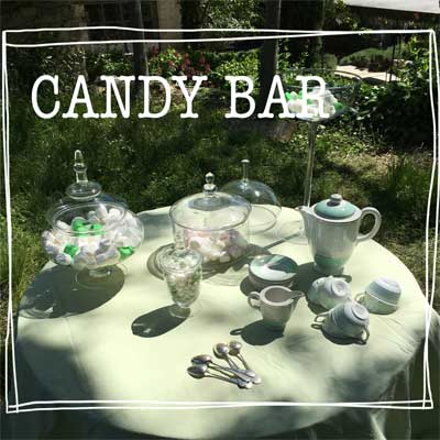 candy bar - vaisselle ancienne
