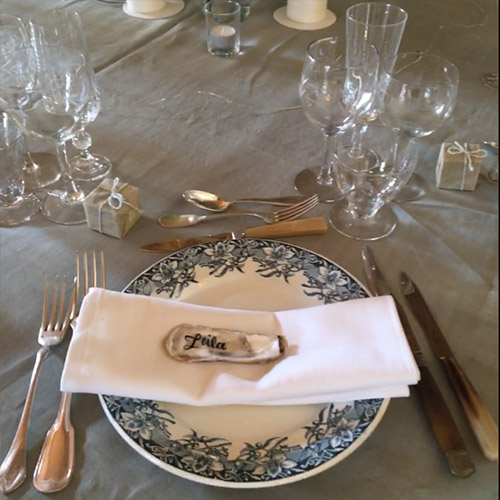 assiettes chic mariage