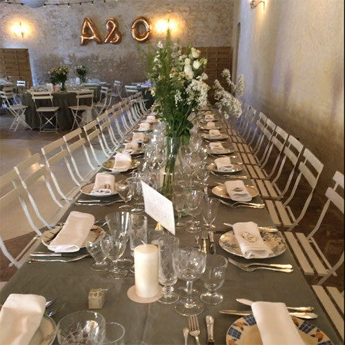 location assiette mariage